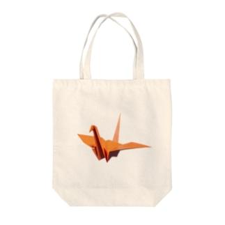 折り鶴 Tote bags