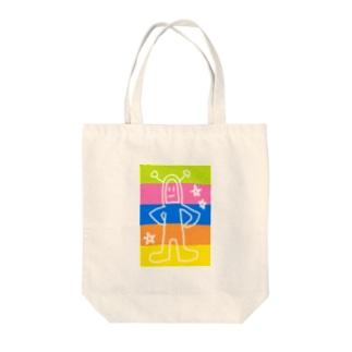 どどーん Tote bags