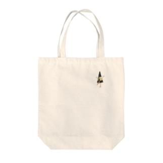 妖怪 からかさ小僧(ワンポイント) Tote bags