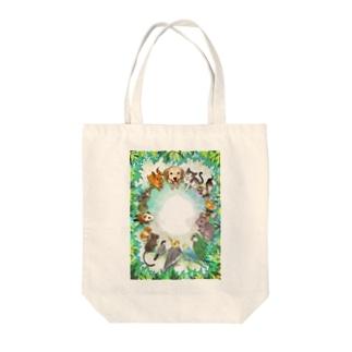 動物たちの森へようこそ Tote bags