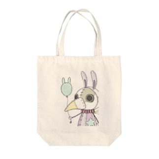 スチパンうさぎ(風船2) Tote bags