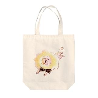 サーカスの休憩ちゅうライオン(カラー) Tote bags