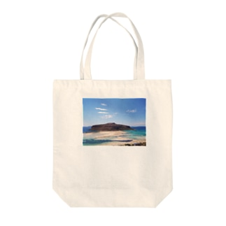 Balos Lagoon Tote bags