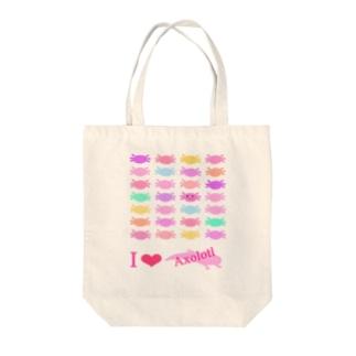 パステルウーパールーパー Tote bags