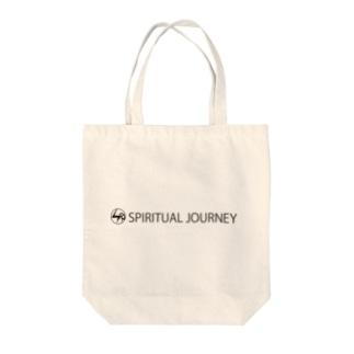 Spiritual Journey 黒ロゴ Tote bags