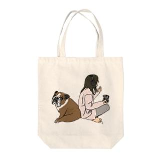 ボーイ君〜福丸さん Tote bags