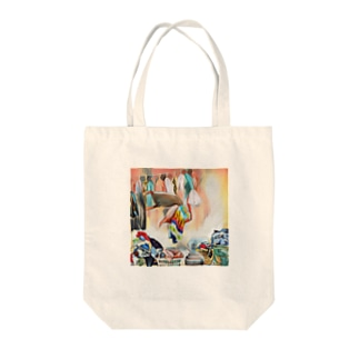 one room Tote bags