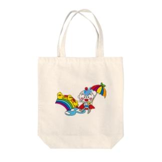 雨上がりのユーミーマン Tote bags