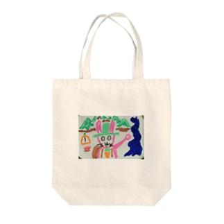 ウサの冒険 Tote bags