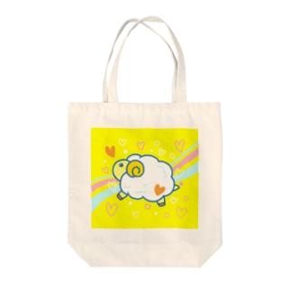 もふもふ ヒツジ(黄色) Tote bags