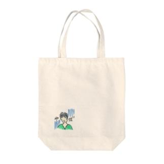 おひげの危機 Tote bags