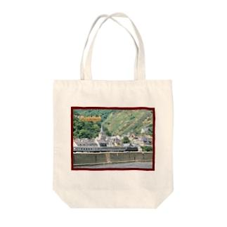 ドイツ:ライン河畔の風景写真 Germany: Riverside view of rhein Tote bags