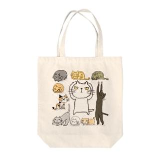 にゃんと! Tote bags