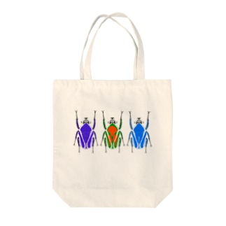 シロヘリミドリツノカナブン3色彩変異 Tote bags