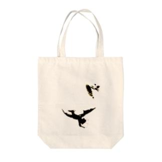 いつも心にあひるちゃんを Tote bags