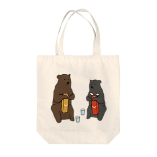 ヒグマとツキノワグマと日本酒 Tote bags