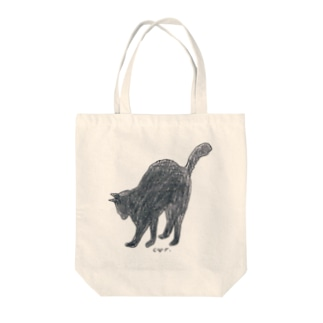100nyans078.christpher_blackcat Tote bags