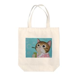 しゃぼん玉遊び Tote bags