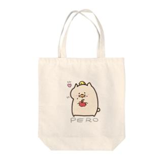 おりんごペロス Tote bags