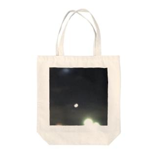 ある夜の月 Tote bags