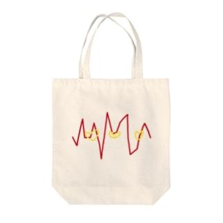 心電図的な何か Tote bags