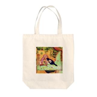 親友のルナ Tote bags