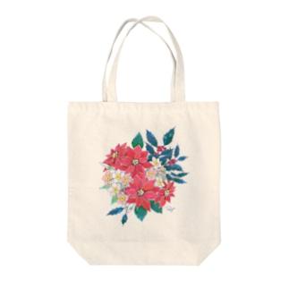 12月のお花盛り沢山 Tote bags