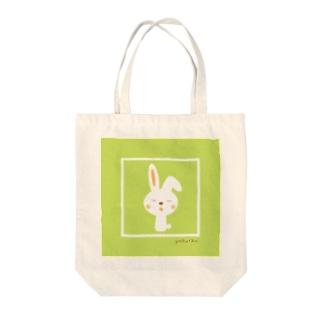 うさぎちゃん(グリーン) Tote bags