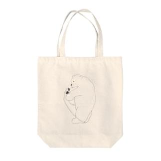 くま(縄跳び) Tote bags