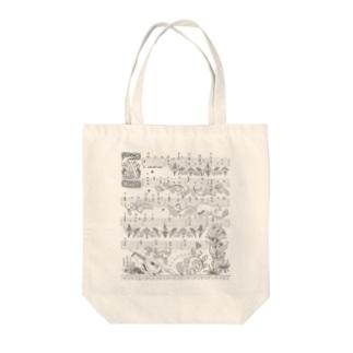 月猫のタブラチュア Tote bags