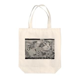 ボールペン画のイラストレーター・白石拓也の鉛筆画「ラストシーン」 Tote bags