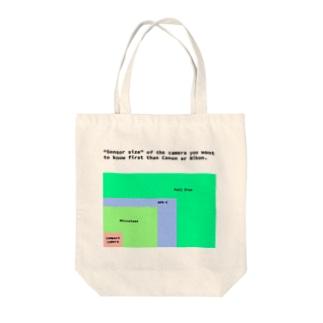 センサーサイズ Tote bags