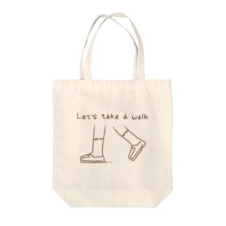 Let's take a walk Tote bags
