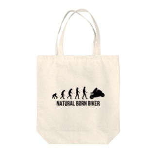 SCC DESIGN WORKSのNATURAL BORN BIKER Tote bags