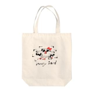 ハードなバード Tote bags