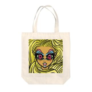 髪の長い血涙姫 Tote bags