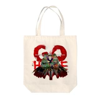 GOHOMEピアノさん Tote bags