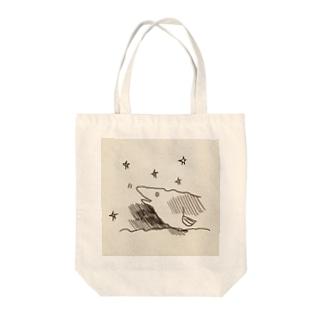 ウツボくん Tote bags
