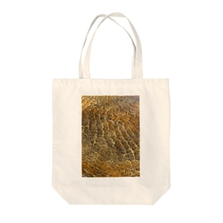 Wave8284の川の波紋 Tote bags