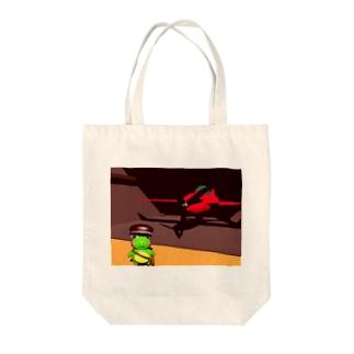 愛機とともにbyカエルの郵便配達員リグーシ Tote bags