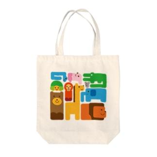 アニマルイラスト Tote bags