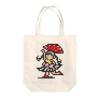 踊るドットアイドル Tote bags