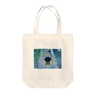 bikke 羊毛フェルトサティ森林浴シリーズ Tote bags