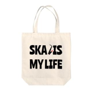 SKA IS MY LIFE(黒) Tote bags