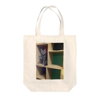 colour BOXチキ Tote bags