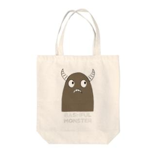 恥ずかしがり屋のモンスター Tote bags