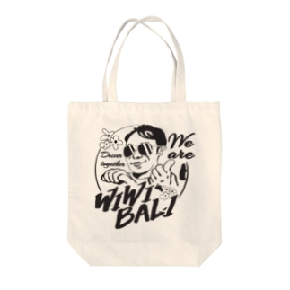 【チャリティグッツ】トートバックwiwiBALI ロゴ① Tote bags