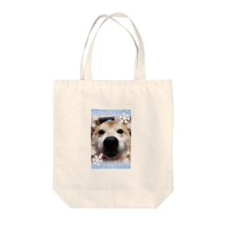 柴犬モモちゃんグッズ Tote bags