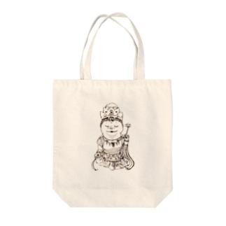 観音菩薩ぶる Tote bags