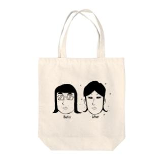 メイクアップAFTER Tote bags